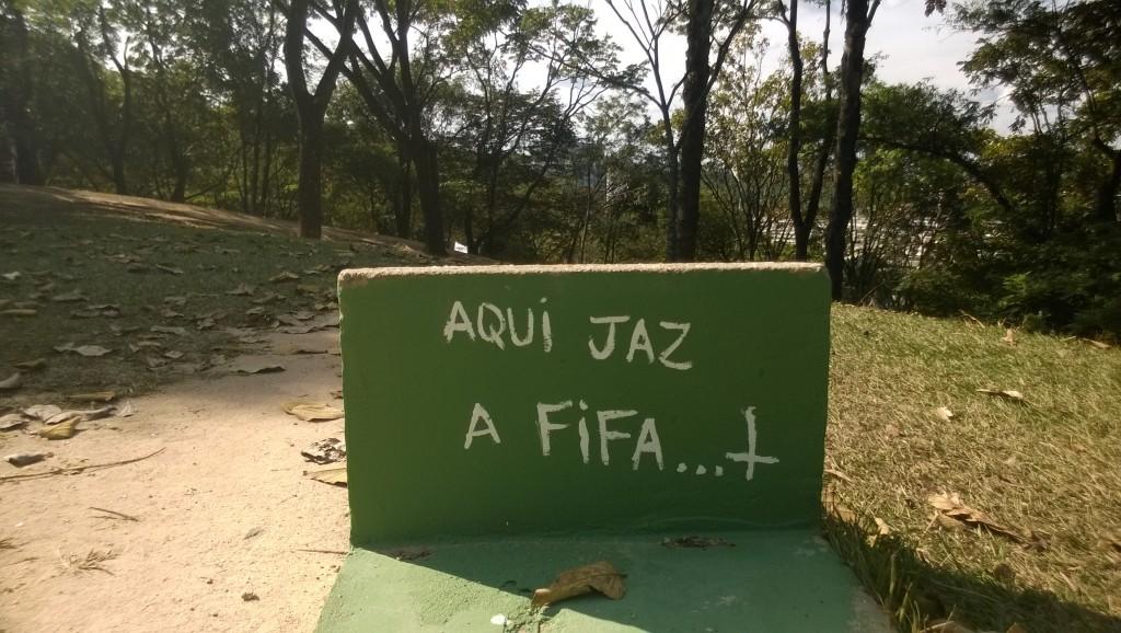 »Hier (auf dem Campus) ruht die Fifa« (Bild: T. Zwior)