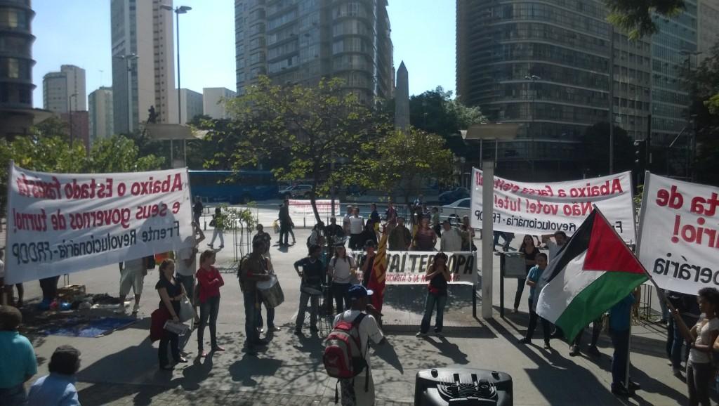 Die Demonstration auf der Praca Sete (Bild: T. Zwior)
