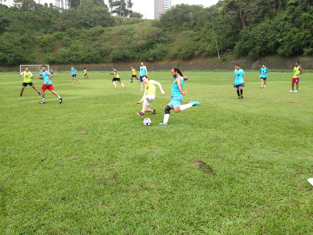 Die zusammengewürfelten Nationalmannschaften lieferten sich intensive Duelle (Bild: Glenn Mason)